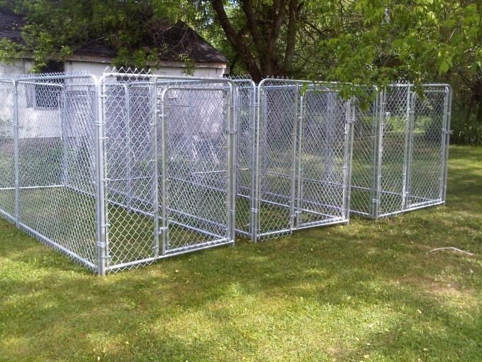 Dog kennels runs pens lalonde fencing for Dog kennel clearance